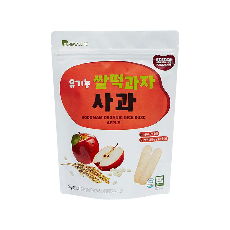 [또또맘] 유기농 쌀떡과자 사과 20g