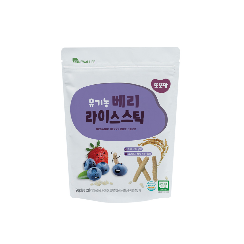 [또또맘] 유기농 라이스스틱 베리베리 20g