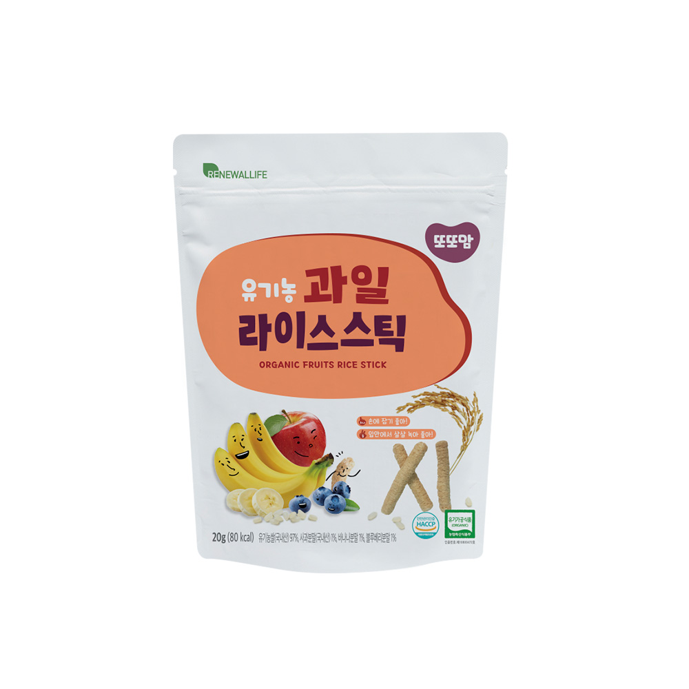[또또맘] 유기농 라이스스틱 과일 20g