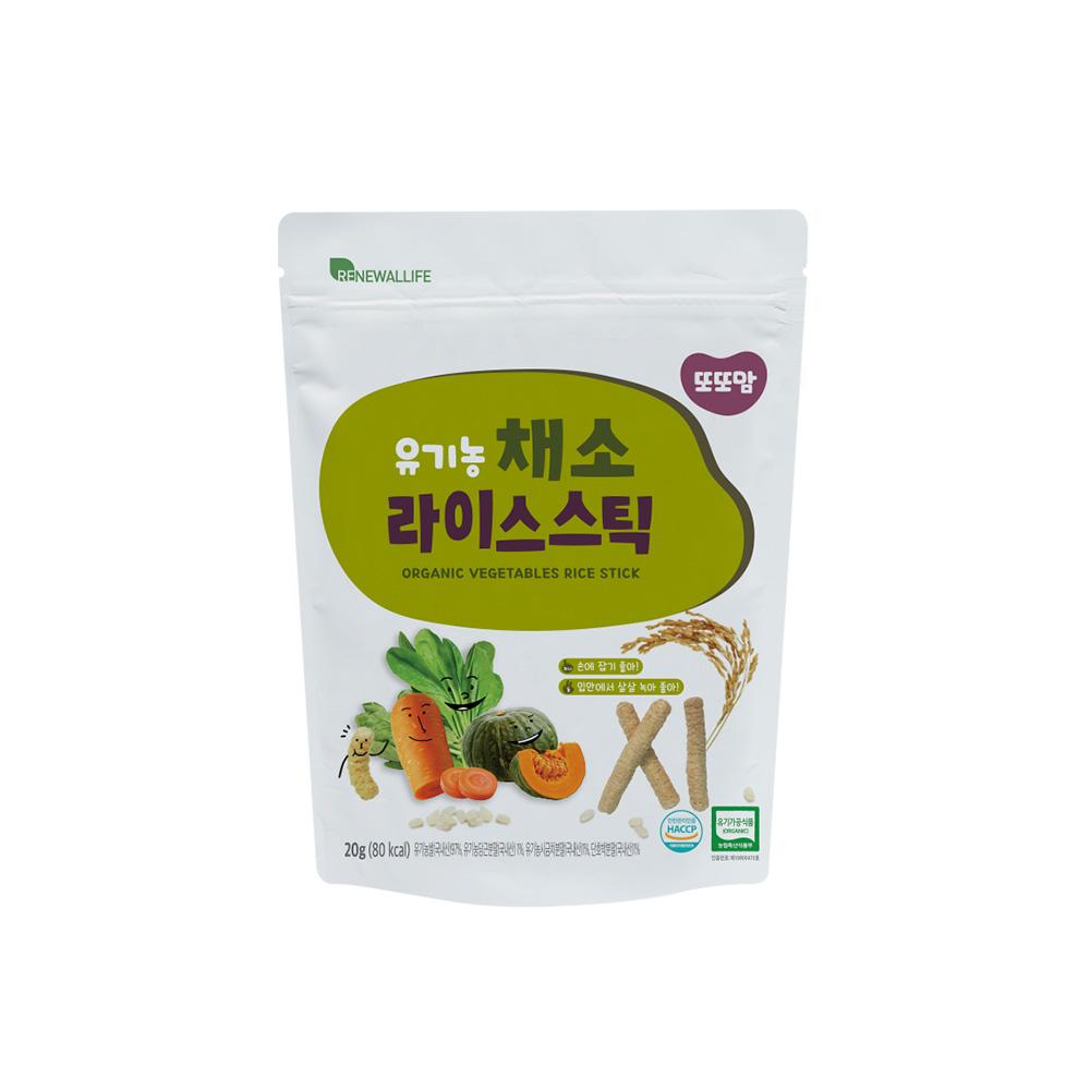 [또또맘] 유기농 라이스스틱 채소 20g