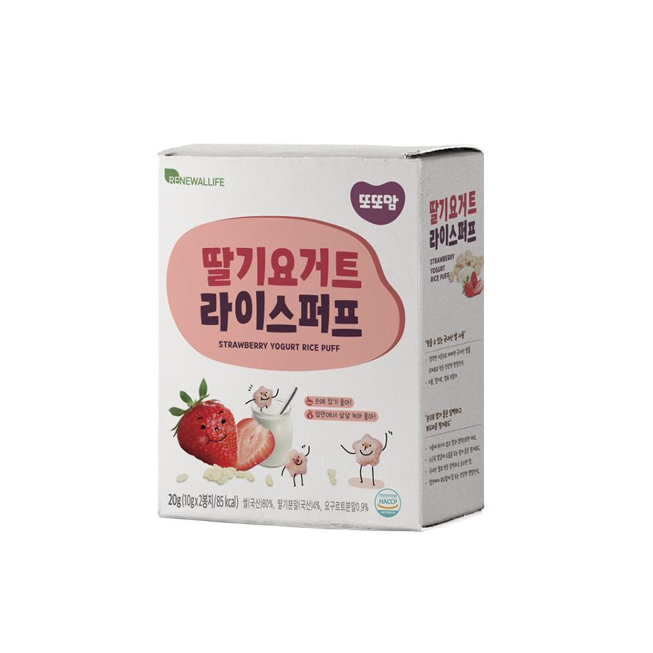 [또또맘] 라이스퍼프 딸기요거트 1박스(10gX2봉)