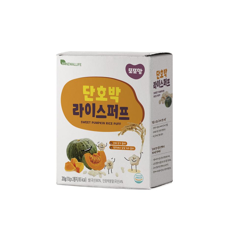 [또또맘] 라이스퍼프 단호박 1박스(10gX2봉)