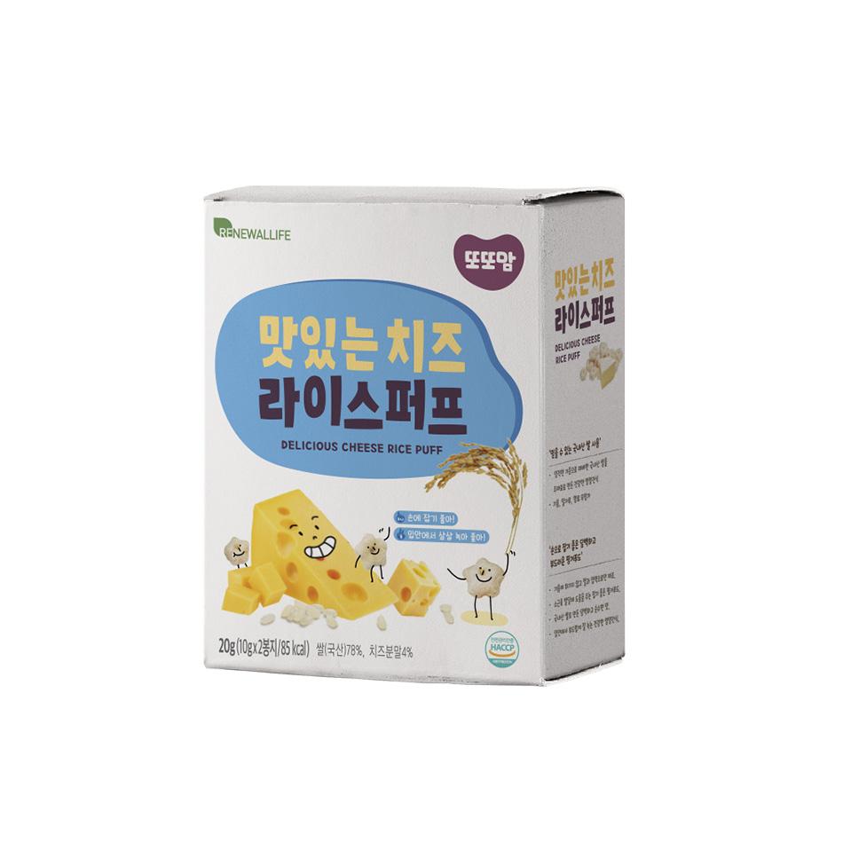 [또또맘] 라이스퍼프 맛있는 치즈 1박스(10gX2봉)
